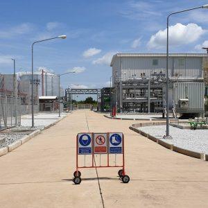 ติดตั้งหลอดไฟ LED ในโรงานไฟฟ้า