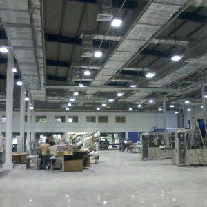 ติดตั้งหลอดไฟ LED สำหรับโรงงาน