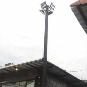 ติดตั้งหลอดไฟ LED กลางแจ้ง